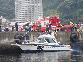 熱海市官民合同「津波避難・水難救助訓練」に参加しました