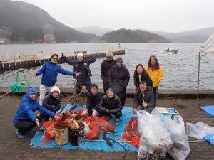 芦ノ湖湖底清掃に参加しました