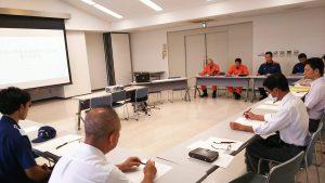 7/11の伊東市水難救助合同訓練の全体会議